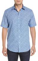 Bugatchi Men's Classic Fit Flower Print Sport Shirt
