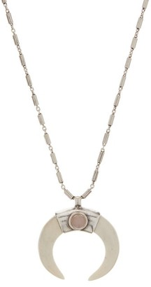 Isabel Marant Curved Horn Pendant Necklace - Silver