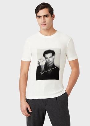 Giorgio Armani Jersey T-Shirt With Chenille Photograph