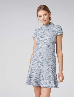 Forever New Sara Boucle Flippy Dress - Blue Boucle - 14