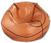 Round Basketball Bean Bag in Matte Orange/Black