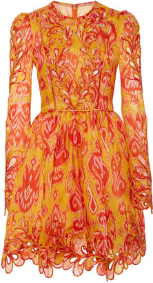 Zimmermann Brightside Rouleaux Silk Mini Dress