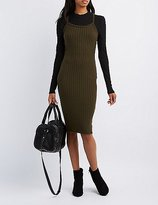 Charlotte Russe Caged-Back Bodycon Dress
