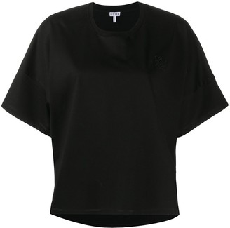 Loewe Anagram embroidered cropped T-shirt