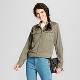 Mossimo Women's Military Jacket Olive