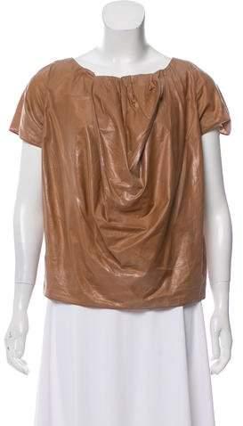 Marni Coated Short Sleeve Top