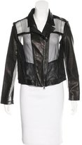 Ohne Titel Leather Paneled Jacket