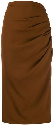 Rochas ruched mid-length skirt