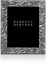 """Barneys New York Studio Mosaic-Embossed Leather 8"""" x 10"""" Picture Frame"""