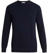Sunspel Crew-neck Rack-stitched Cotton Sweater