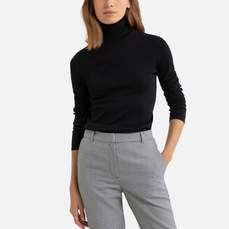 Benetton Cotton Turtleneck T-Shirt with Long Sleeves