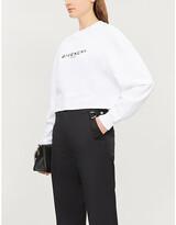 Givenchy Logo-print cropped cotton-jersey sweatshirt