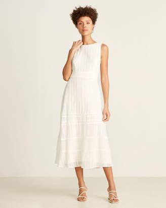 Taylor Sleeveless Embroidered Chiffon Midi Dress