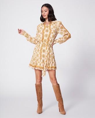 Paige Portofino Dress-Birch/Turmeric