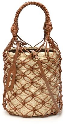 Miu Miu Net Woven Bucket Bag