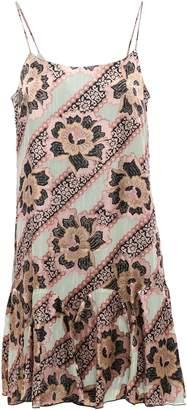 Anna Sui Ruffled Metallic Floral-print Fil Coupe Dress