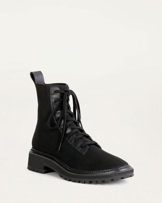 Loeffler Randall Brady Stretch Knit Lace-Up Boot Black