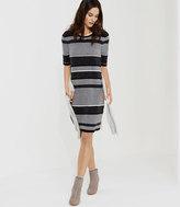 LOFT Petite Lou & Grey Blockstripe Sweater Dress