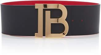 Balmain B-Belt Reversible Leather Belt