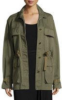 Theory Thornwood Washed Chino Coat, Green