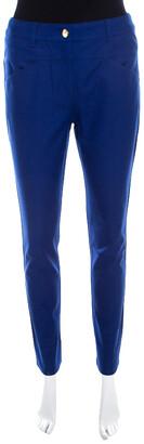 Escada Cobalt Blue Stretch Denim Teresa Straight Leg Jeans S
