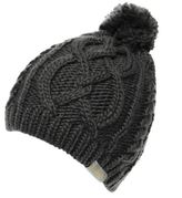 Golddigga Womens Cable Hat Knitted Snow Winter Warm Accessories
