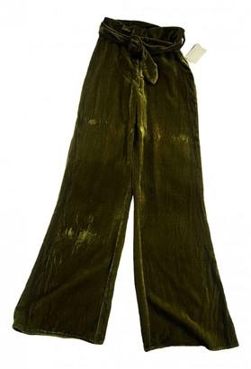 Tularosa Green Velvet Trousers for Women