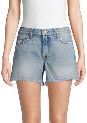 7 For All Mankind Maritime Fringed Denim Shorts