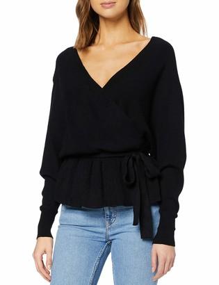 New Look Women's V FRONT V BACK WRAP JUMPER Sweater