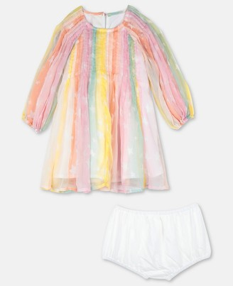 Stella Mccartney Kids Rainbow Silk Dress, Unisex