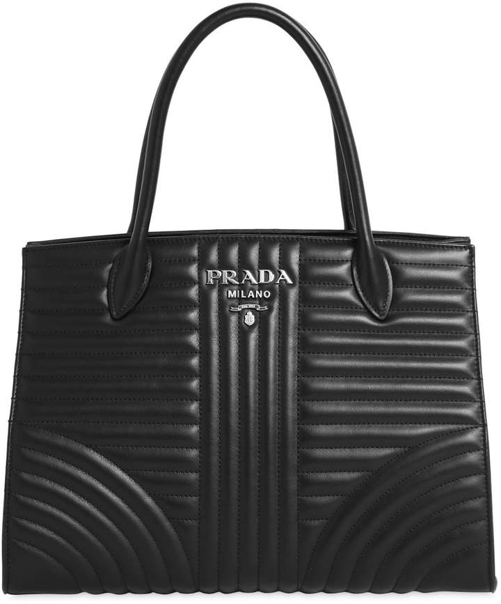 Prada Quilted Soft Leather Top Handle Bag