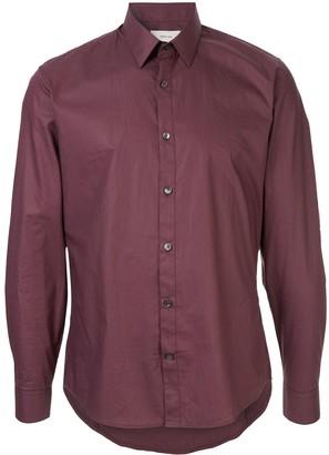 Cerruti plain fitted shirt