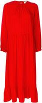 Semi-Couture Semicouture peplum style flared dress