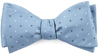 The Tie BarThe Tie Bar Steel Blue Suited Polka Dots Bow Tie