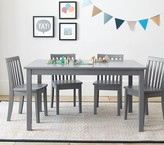 Pottery Barn Kids Carolina Large Table & 4 Chairs Set, Simply White Table, 4 Simply White Chairs