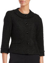 Karl Lagerfeld Paris Button-Front Boucle Blazer