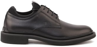 Tod's Tods Lace-up In Grained Leather With Embossed Logo