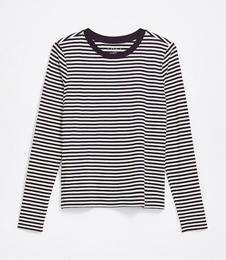 LOFT Petite Striped Long Sleeve Tee