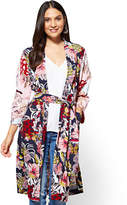 New York & Co. 7th Avenue - Duster Jacket - Navy Floral
