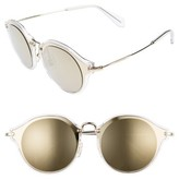 Miu Miu Women's 49Mm Cat Eye Sunglasses - Brown/ Gold