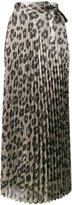 Haider Ackermann pleated glitter leopard print skirt