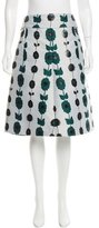 Jil Sander Brocade Knee-Length Skirt