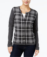 Tommy Hilfiger Marilyn Sparkle Plaid Cardigan, Only at Macy's