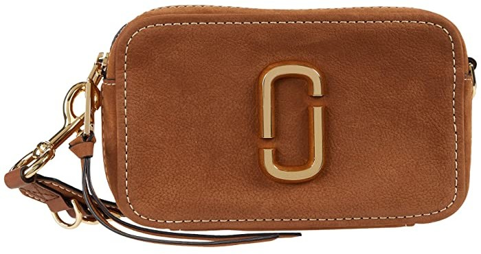 Marc Jacobs The Softshot 21 Suede Crossbody (Brown) Cross Body Handbags