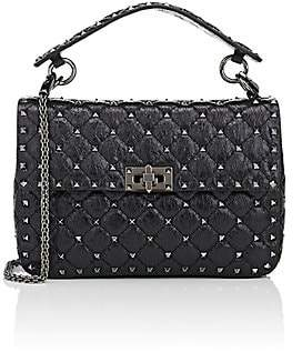 Valentino Women's Rockstud Medium Leather Shoulder Bag - Black