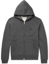 Burberry Cotton-blend Jersey Hoodie - Gray