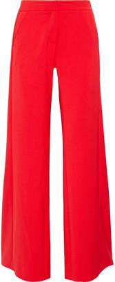 Halston Pleated Cady Wide-leg Pants