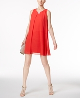 MSK Petite Rhinestone Chiffon Shift Dress