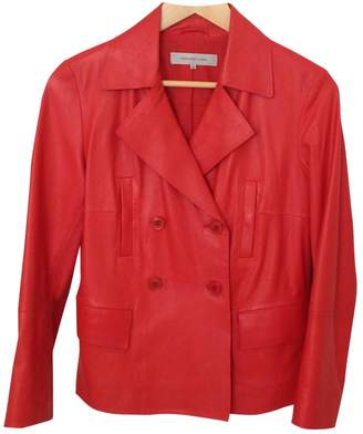 Gerard Darel \N Orange Leather Leather Jacket for Women