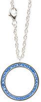 Macy's Blue Topaz (1 1/5 c.t.t.w.) Channel-Set Eternity Necklace in Sterling Silver